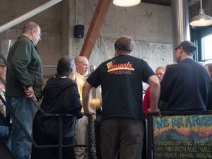 HHB Members touring a local brewing facility